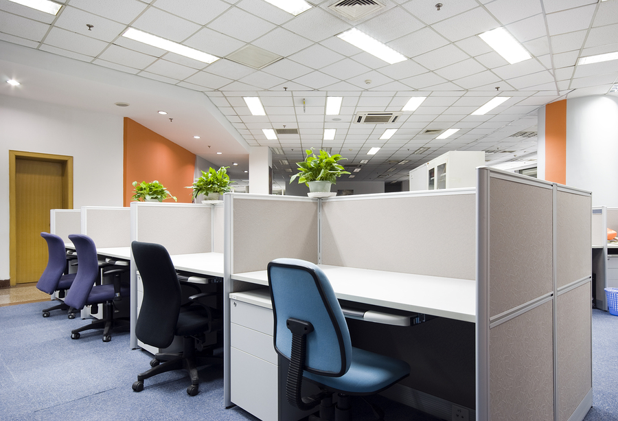 an empty modern office